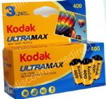 Kodak UltraMax  400 iso 35mm 24 exposure Colour Print Camera  Film 3 PACK SPECIAL